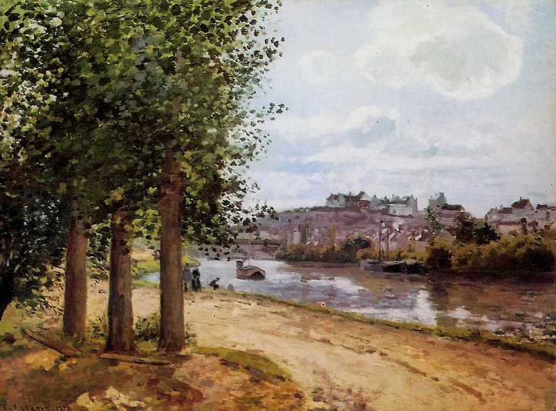 Pontoise banks of the Oise , Camille Pissarro