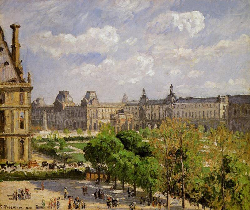 Place du Carrousel, the Tuileries Gardens. 1900, Camille Pissarro