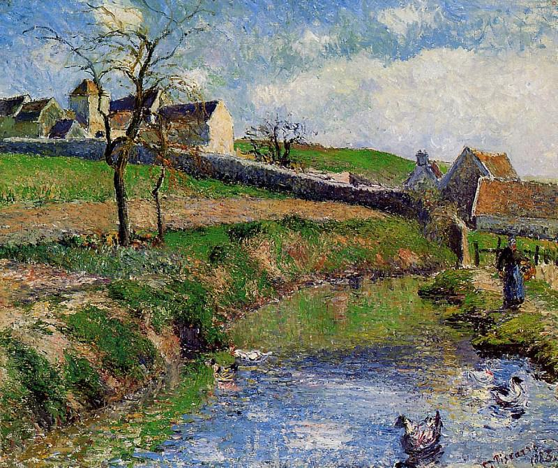 View of a Farm in Osny. 1883, Camille Pissarro