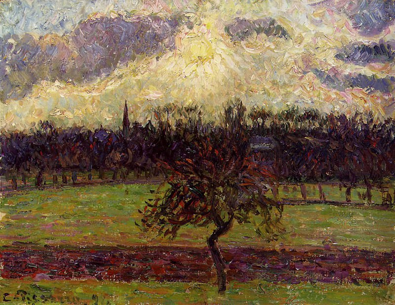The Fields of Eragny, the Apple Tree. 1894, Camille Pissarro