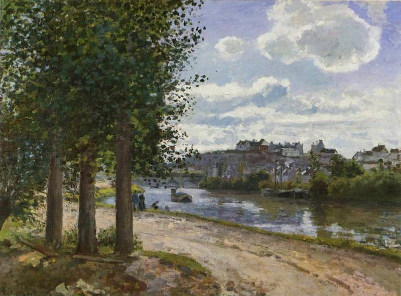 Banks of the Oise. 1872, Camille Pissarro
