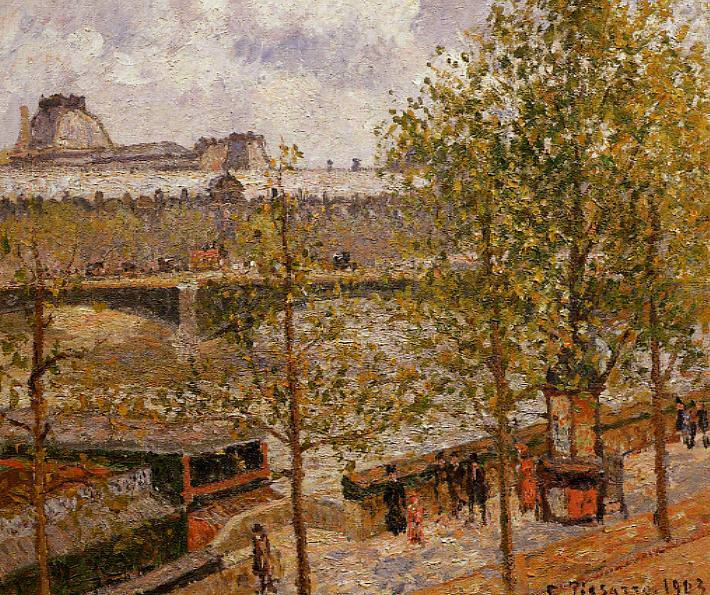 The Louvre, Morning, Sun, Quai Malaquais. 1903, Camille Pissarro