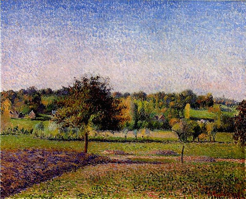 Meadows at Eragny. 1886, Camille Pissarro