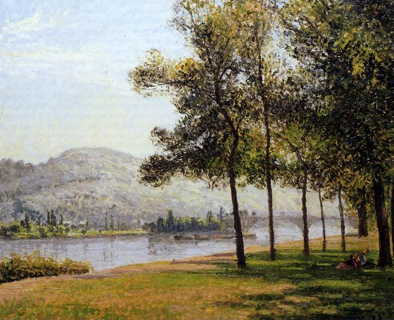 The Cours-la-Reine at Rouen Morning, Sunlight. 1898, Camille Pissarro