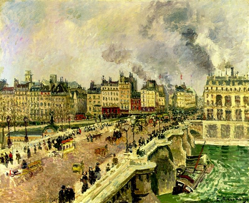 The Pont Neuf, Shipwreck of the Bonne Mere. 1901, Camille Pissarro