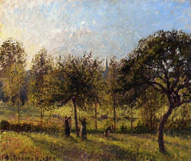 Setting Sun, Autumn in Eragny. 1900, Camille Pissarro