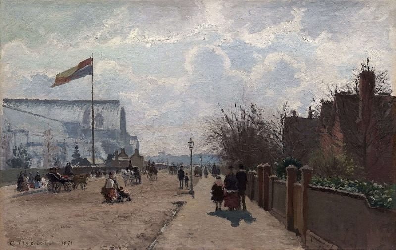 The Chrystal Palace, London. 1871, Camille Pissarro