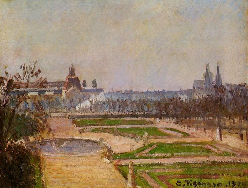 The Tuileries and the Louvre. 1900, Camille Pissarro