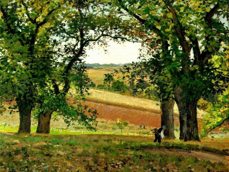 Chestnut Trees at Osny. 1873, Camille Pissarro