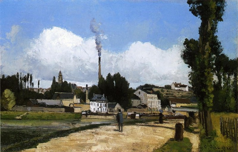 Landscape with Factory. 1867, Camille Pissarro