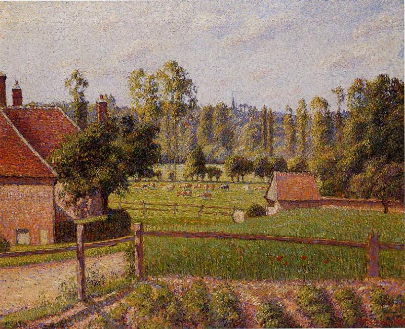 A Meadow in Eragny. 1889, Camille Pissarro