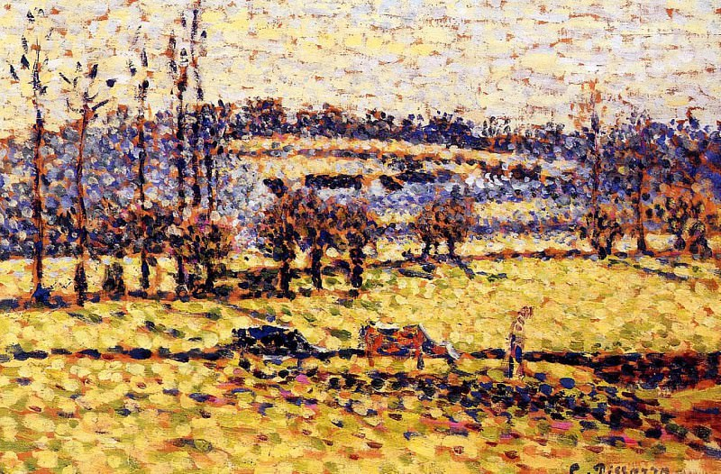 Meadow at Bazincourt. 1886, Camille Pissarro