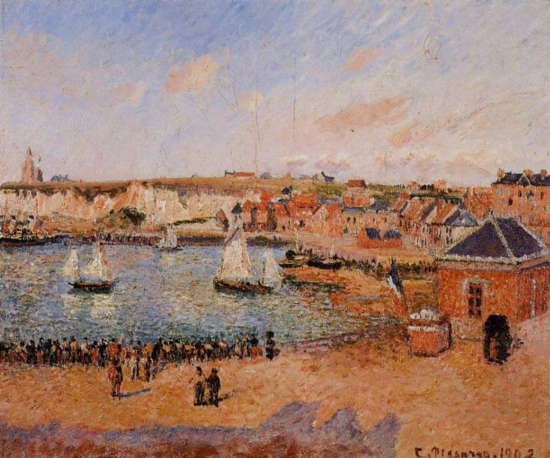 The Inner Harbor, Dieppe - Afternoon, Sun, Low Tide. 1902, Camille Pissarro