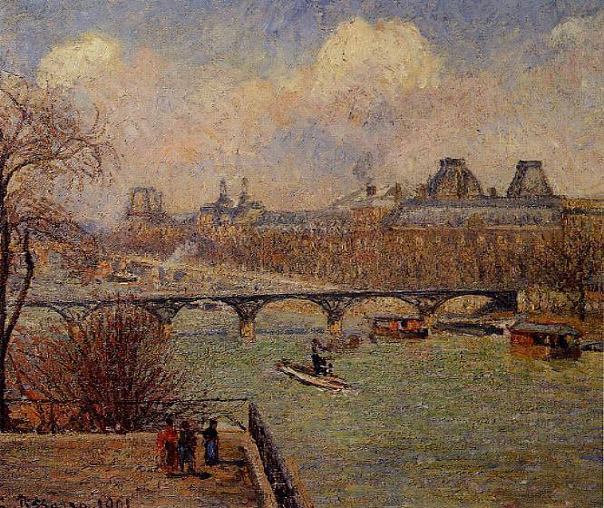 View of the Seine from the Raised Terrace of the Pont-Neuf. 1901, Camille Pissarro