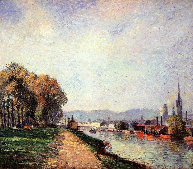 View of Rouen. 1883, Camille Pissarro