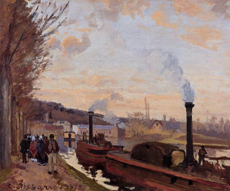 The Seine at Port-Marly. 1872, Camille Pissarro