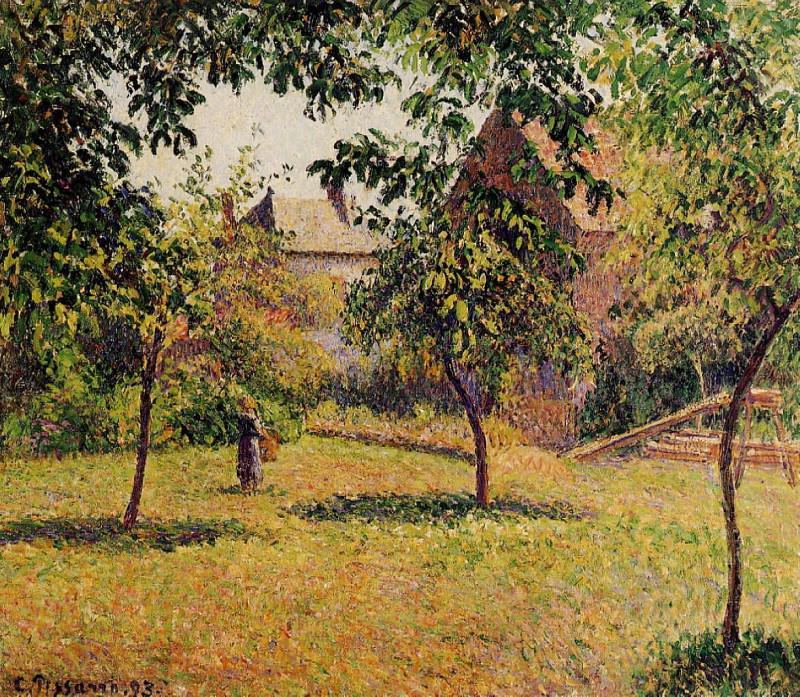 The Barn, Morning, Eragny. 1893, Camille Pissarro