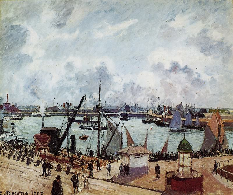 Outer harbour of Le Havre , Camille Pissarro