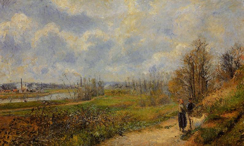 The Pathway at Le Chou, Pontoise. 1878, Camille Pissarro
