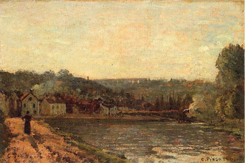 The Banks of the Seine at Bougival. 1871, Camille Pissarro