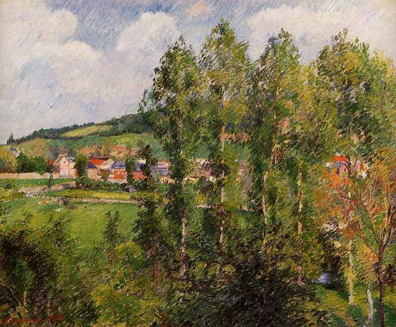 Gizors, New Section. 1885, Camille Pissarro