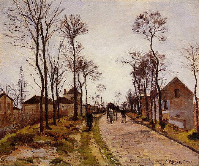 The Road to Caint-Cyr at Louveciennes. 1870, Camille Pissarro