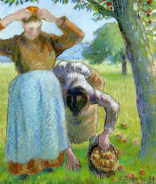 Apple Gatherers. 1891, Camille Pissarro