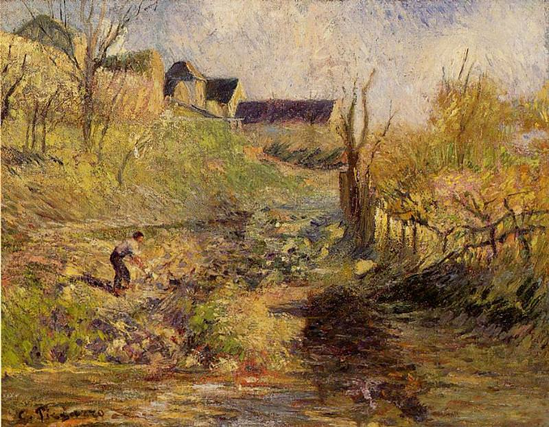 Landscape at Osny. 1883, Camille Pissarro