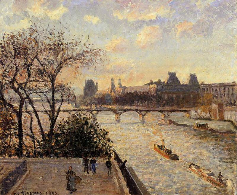 The Louvre and the Seine from the Pont-Neuf. 1902, Camille Pissarro