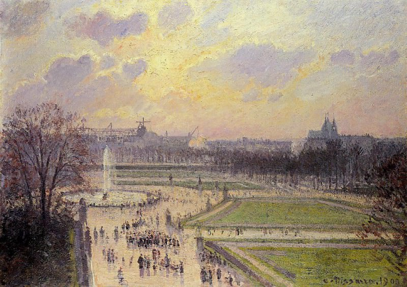 The Bassin des Tuileries - Afternoon. 1900, Camille Pissarro