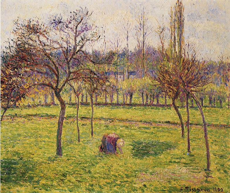 Apple Trees in a Field. 1892, Camille Pissarro