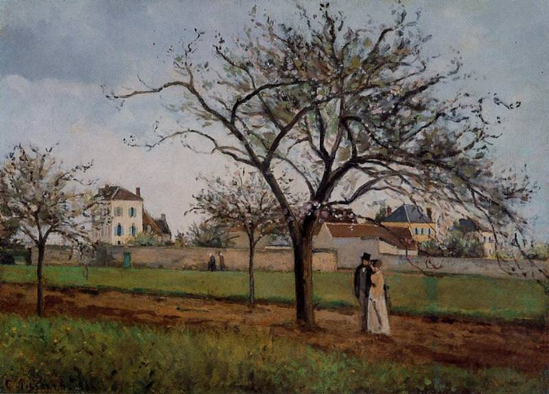 The House of Pere Gallien, Pontoise. 1866, Camille Pissarro