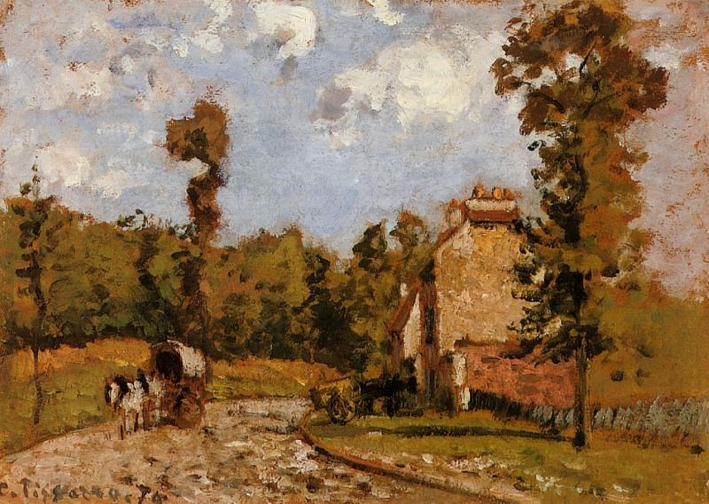 Road in Port-Maryl. 1872, Camille Pissarro