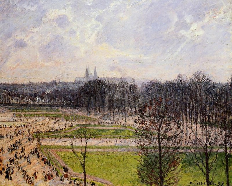 The Tuileries Gardens - Winter Afternoon. 1899, Camille Pissarro