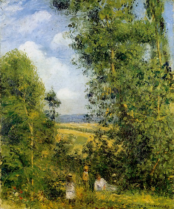 Resting in the woods Pontoise , Camille Pissarro