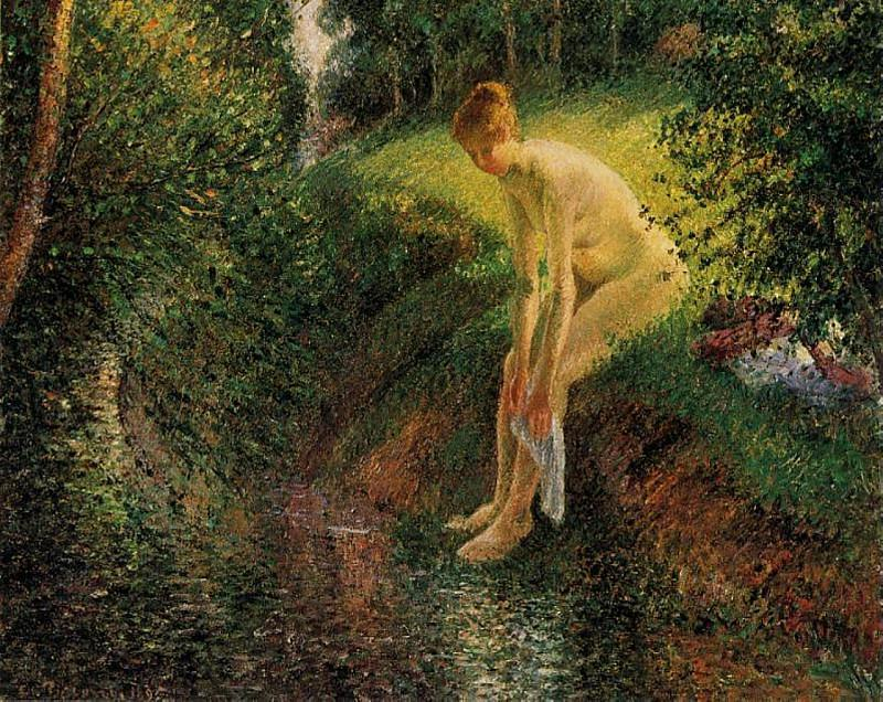 Bather in the Woods. 1985, Camille Pissarro
