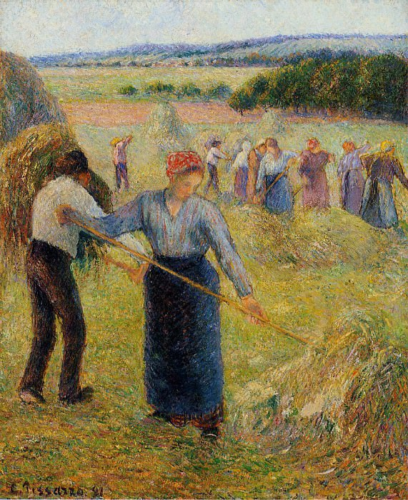 Haymaking at Eragny. 1891, Camille Pissarro