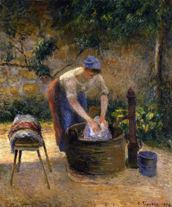 The Laundry Woman. 1879, Camille Pissarro