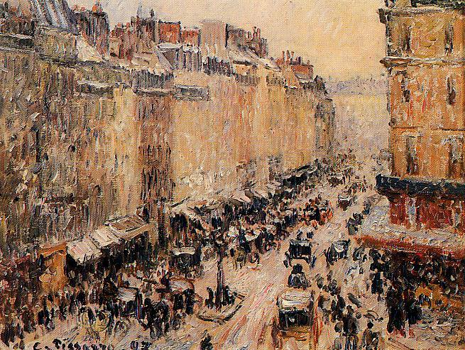 Rue Saint-Lazar under Snow. 1897, Camille Pissarro