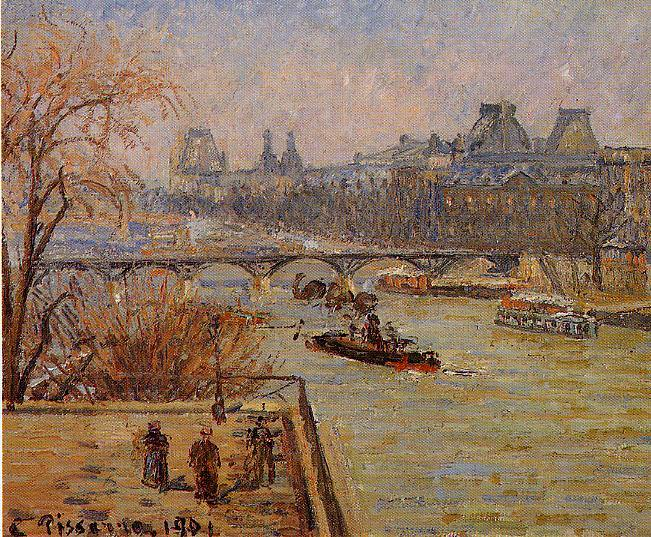 The Louvre. 1901, Camille Pissarro