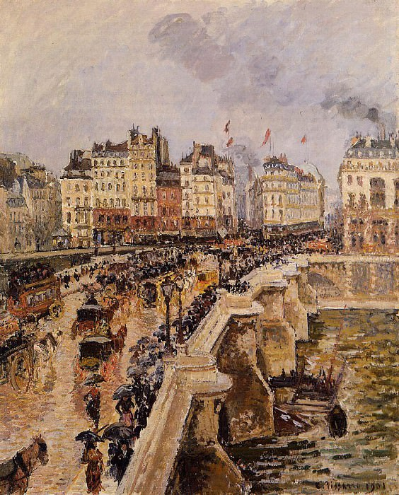 The Pont-Neuf - Rainy Afternoon. 1901, Camille Pissarro