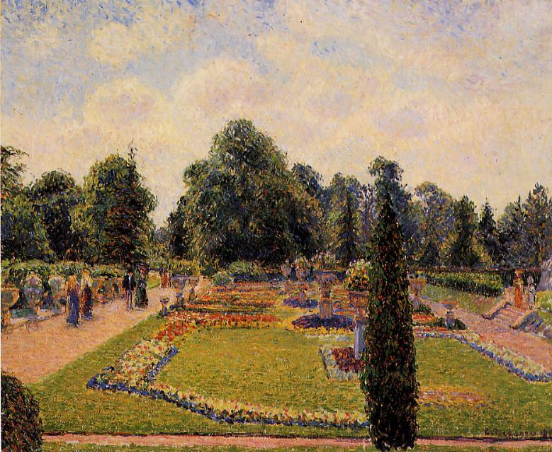 Kew Gardens - Path between the Pond and the Palm House. 1892, Camille Pissarro
