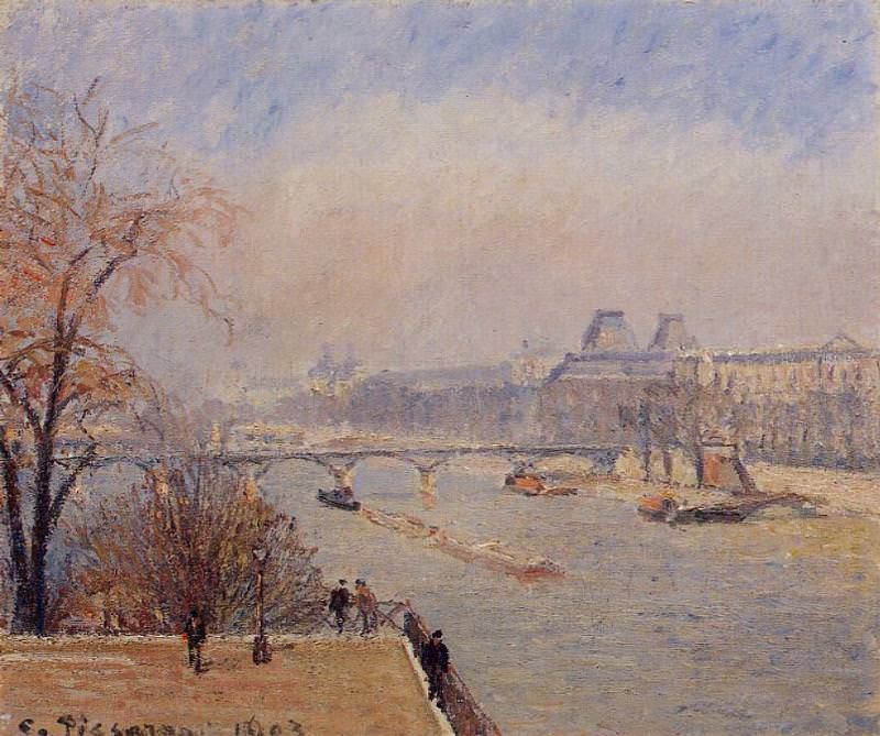 The Louvre - March Mist. 1903, Camille Pissarro