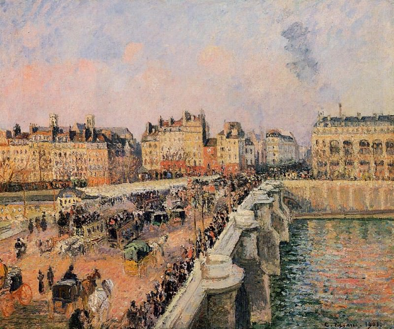 The Pont-Neuf - Afternoon Sun. 1901, Camille Pissarro