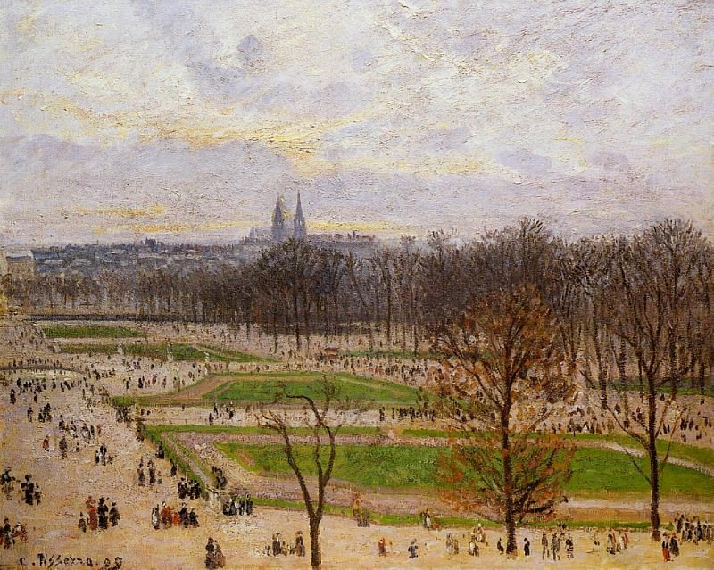 The Tuilleries Gardens - Winter Afternoon. 1899, Camille Pissarro
