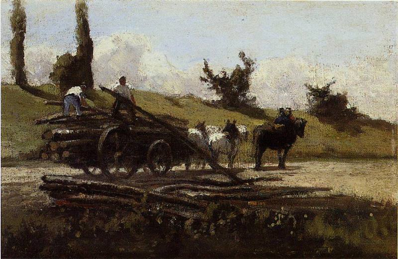 The Wood Cart. 1863, Camille Pissarro