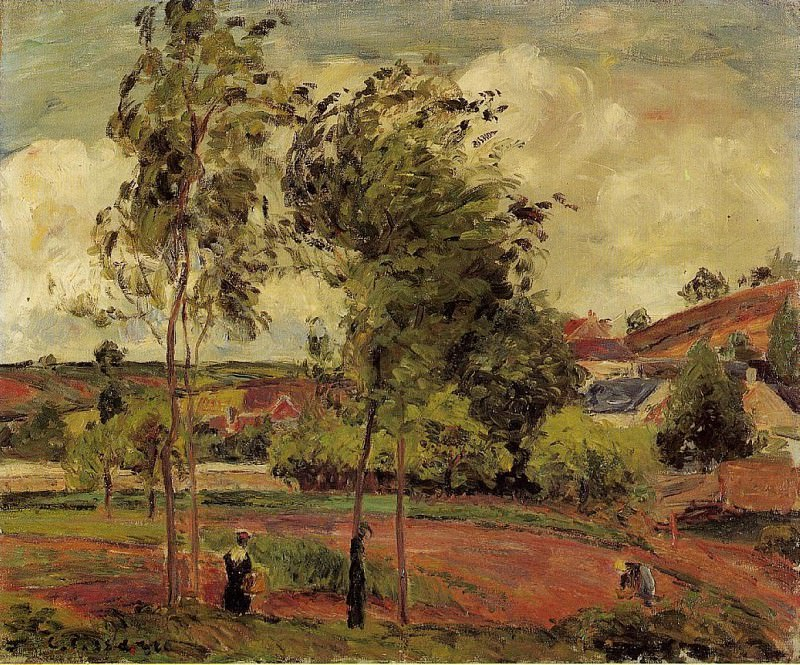 Strong Winds, Pontoise. 1877, Camille Pissarro