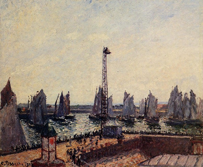 The Inner Port and Pilots Jetty, Le Havre. 1903, Camille Pissarro