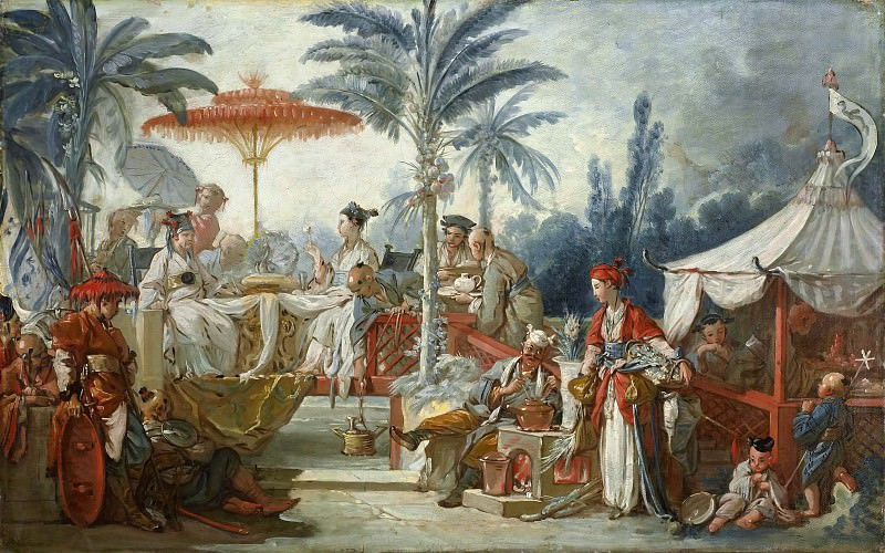 Cartoons for tapestries - Feast of the Emperor of China, Francois Boucher