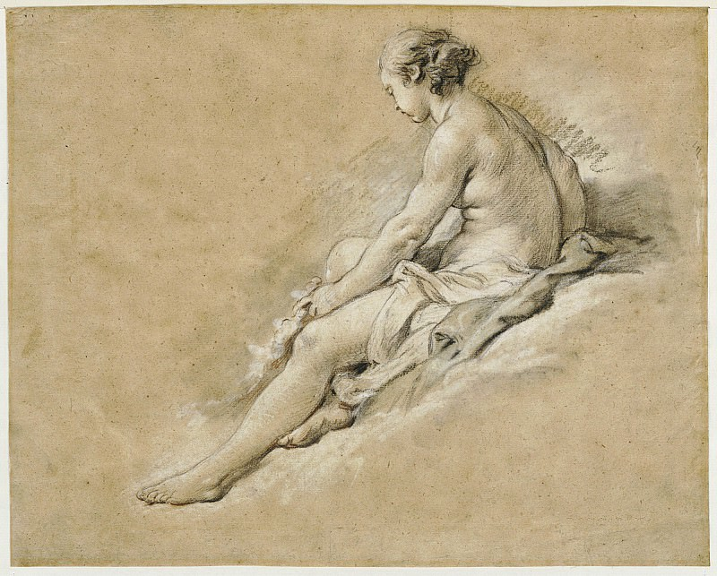 A Seated Nude Girl, Francois Boucher